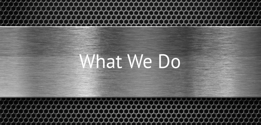 What we do header